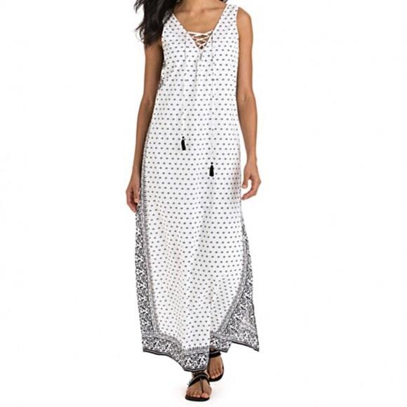 "Vineyard Vines Dresses & Skirts - Vineyard Vines ""Fan Border Print"" Beach Maxi Dress"